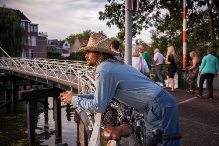 Karl Blau bij Takeroot festival in Groningen. Beeld Harry Cock