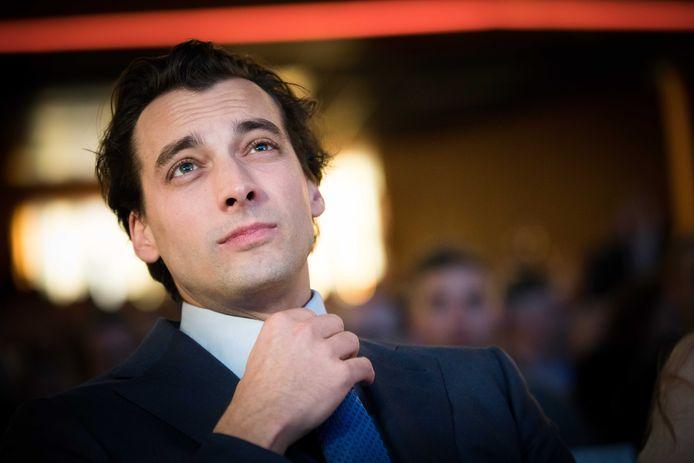 Fractievoorzitter Thierry Baudet tijdens een eerder partijcongres van Forum voor Democratie.