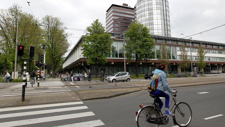 De Nederlandsche Bank staat op de plek waar de Volksvlijt eerst stond Beeld anp