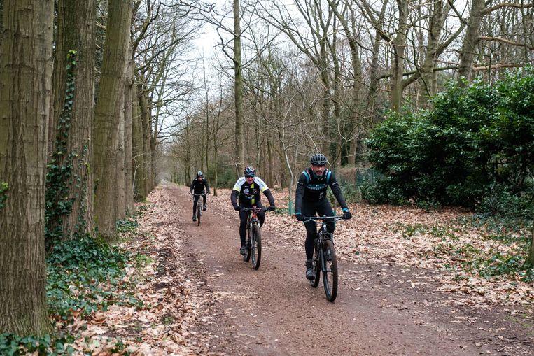 Het parcours liep door het bos