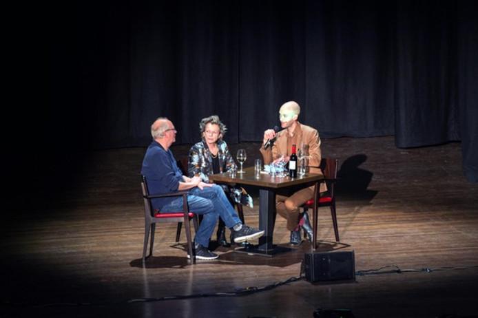 Herman Koch en Connie Palmen in gesprek met Jaap Robben op het Nijmeegs Boekenfeest
