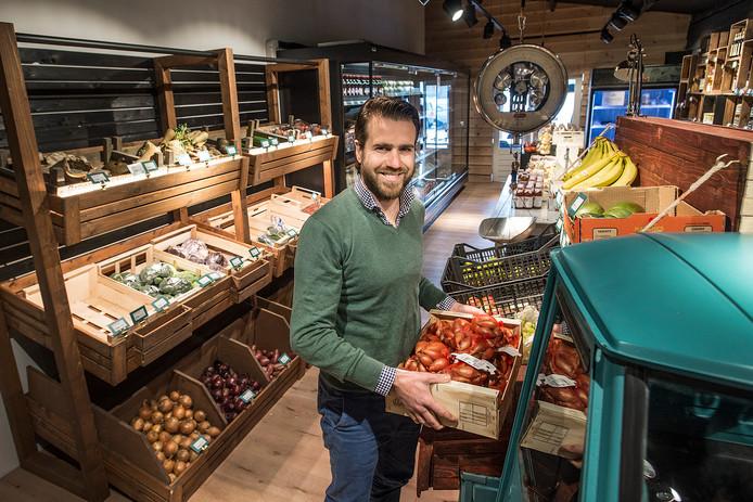 Stijn Markusse in de winkel van Boerschappen in Breda.