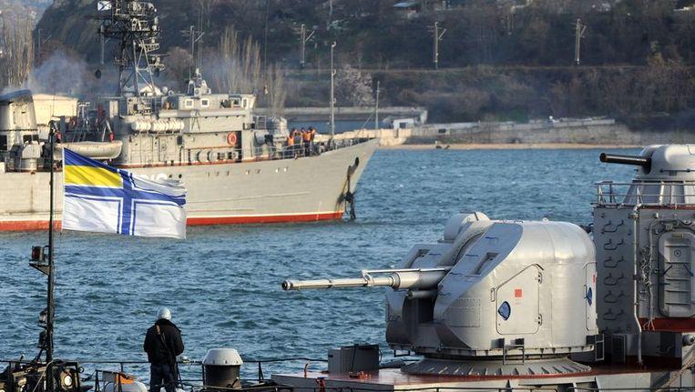 Oekraïens marineschip in wateren bij de Krim Beeld ANP