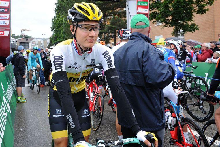 Wilco Kelderman greep de leiderstrui. Beeld photo_news
