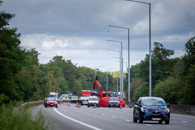 MECHELEN Ongeval met motorrijder op de E19 in de richting van Brussel ter hoogte van Mechelen-Noord