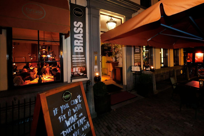Restaurant Brass aan het Janskerkhof.