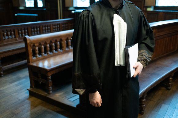 Een advocaat in de correctionele zittingszaal van het Mechelse gerechtshof.