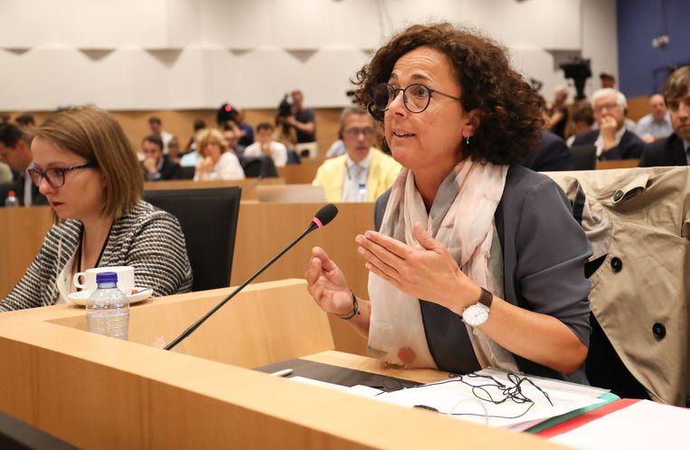 Lambrecht tijdens een hoorzitting in het federaal parlement, in volle Fipronil-crisis.