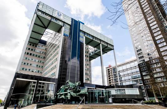Exterieur van Unilever aan het Weena in Rotterdam.