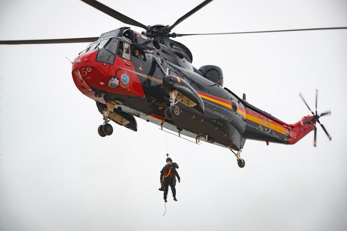Sea King-helikopter van Koksijde die recent overigens vervangen zijn door de NH90 helikopter NFH.