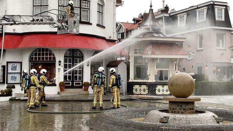 Brand paviljoen De Haan