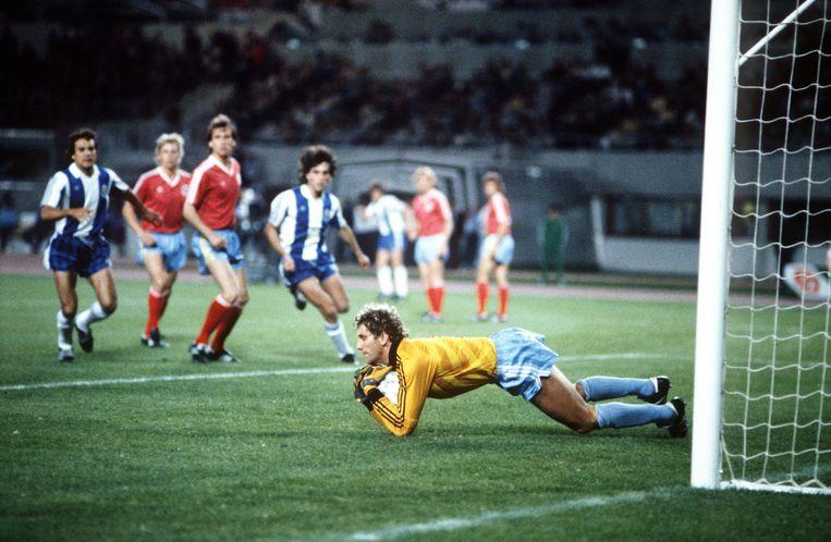 Jean-Marie Pfaff in 1987 in actie met Bayern München.