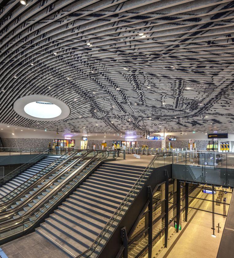 Het nieuwe station in Delft. Beeld Harry Cock, de Volkskrant