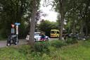 Botsing tussen auto en snorfiets in Schijndel.