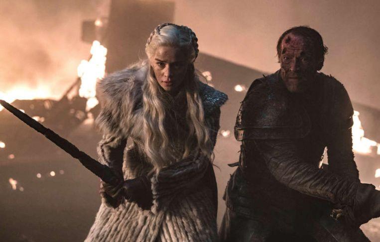 Dany en Jorah vechten samen voor hun leven, maar hij toch vooral voor dat van haar.