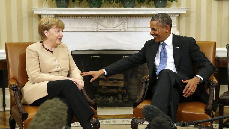 Merkel en Obama