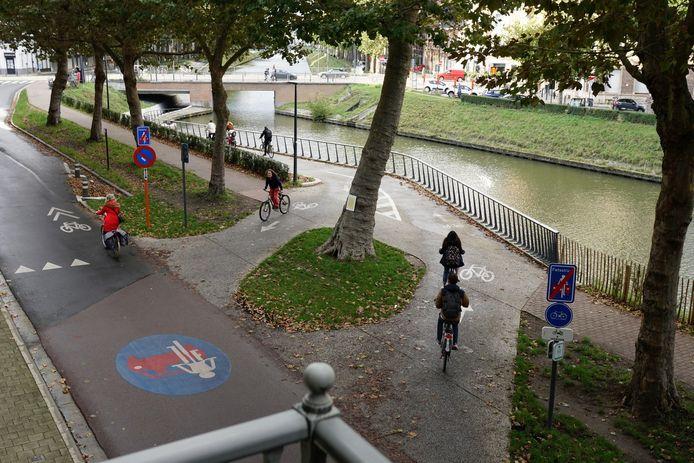 De boom aan de onderdoorgang onder de Rozemarijnbrug is erg gekend in Gent.