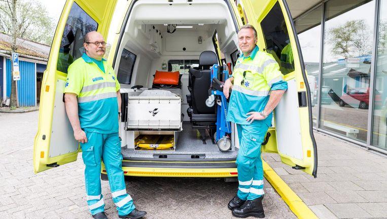 De psycholance is een speciale ambulance om verwarde patiënten naar de noodhulp te brengen. Beeld Hollandse Hoogte