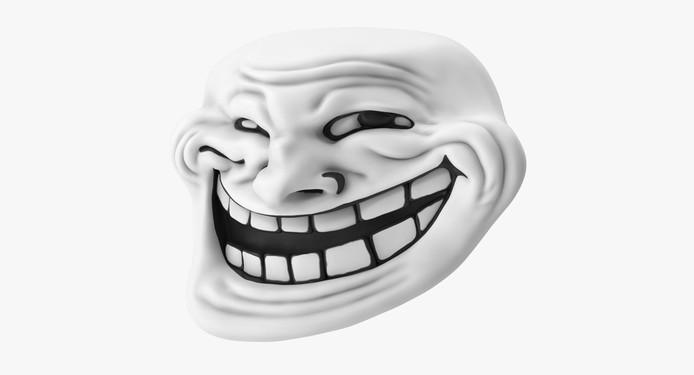 Een soortgelijk trollface-masker.