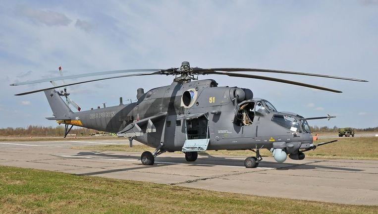 Een Mi-35M van de Russische luchtmacht. Beeld Yevgeny Volkov/Wikicommons