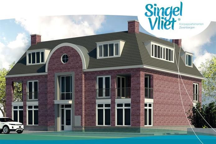 De bouw van de zes appartementen start naar verwacht komend voorjaar.