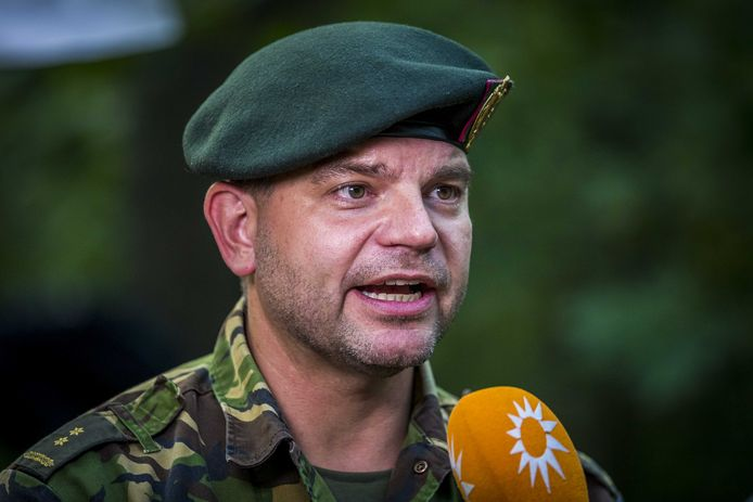 Luitenant Kolonel der Limburgse Jagers Ger Hindriks.