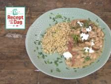 Recept van de dag: Cassoulet met geitenkaas, kip en parelgort