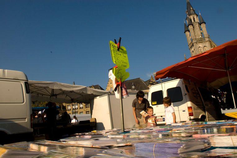De markt in Poperinge.