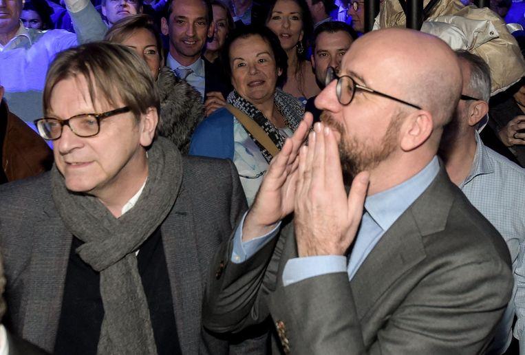 Ook premier Charles Michel en Guy Verhofstadt tekenden present.
