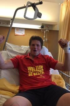 Stevo-speler ziet in ziekenhuis zijn team via Skype van TVC'28 winnen