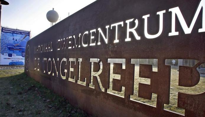 De ingang van Nationaal Zwemcentrum de Tongelreep. Foto Jurriaan Balke