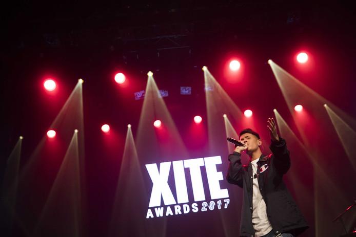 Vinchenzo tijdens de uitreiking van de XITE Awards 2017 in de Melkweg.