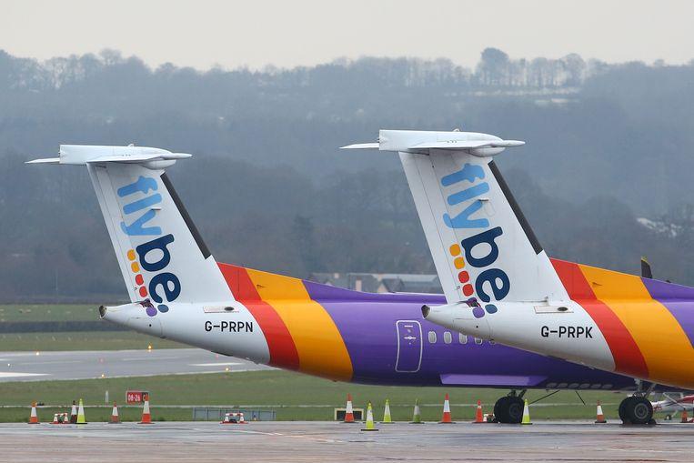 Covid-19 gaf de noodlijdende Britse luchtvaartmaatschappij Flybe het laatste zetje.  Beeld AFP