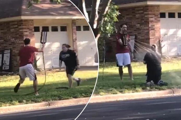 Ian Doherty a arrosé sa voisine pour mettre fin à une dispute de voisinage dans son quartier d'Austin au Texas.