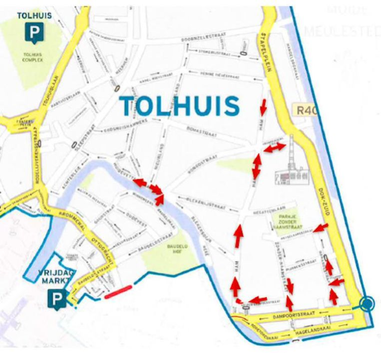 In de Tolhuiswijk worden tal van rijrichtingen omgedraaid.