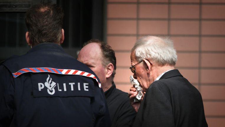 Bauke Vaatstra, de vader van de vermoorde Marianne Vaatstra, voor aanvang van de bekendmaking van de strafeis tegen Jasper S. Hij wordt verdacht van de verkrachting en de moord op de 16-jarige Marianne in een weiland bij Veenklooster in 1999. Beeld ANP