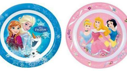 Winkel Trafic haalt kinderbordjes van Frozen en Disney-prinsessen uit de verkoop