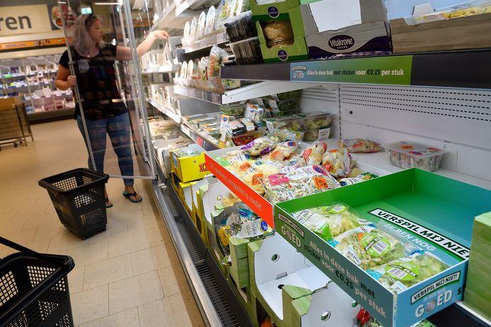 Producten, waarvan de houdbaarheidsdatum bijna afloopt, voor 25 cent bij de Lidl.