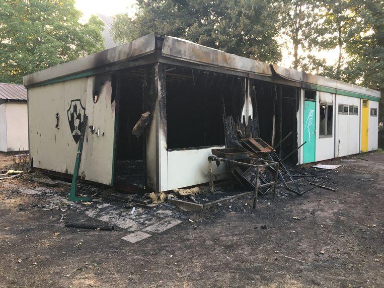 Het lokaal van de scouts werd volledig vernield door de pyromaan.