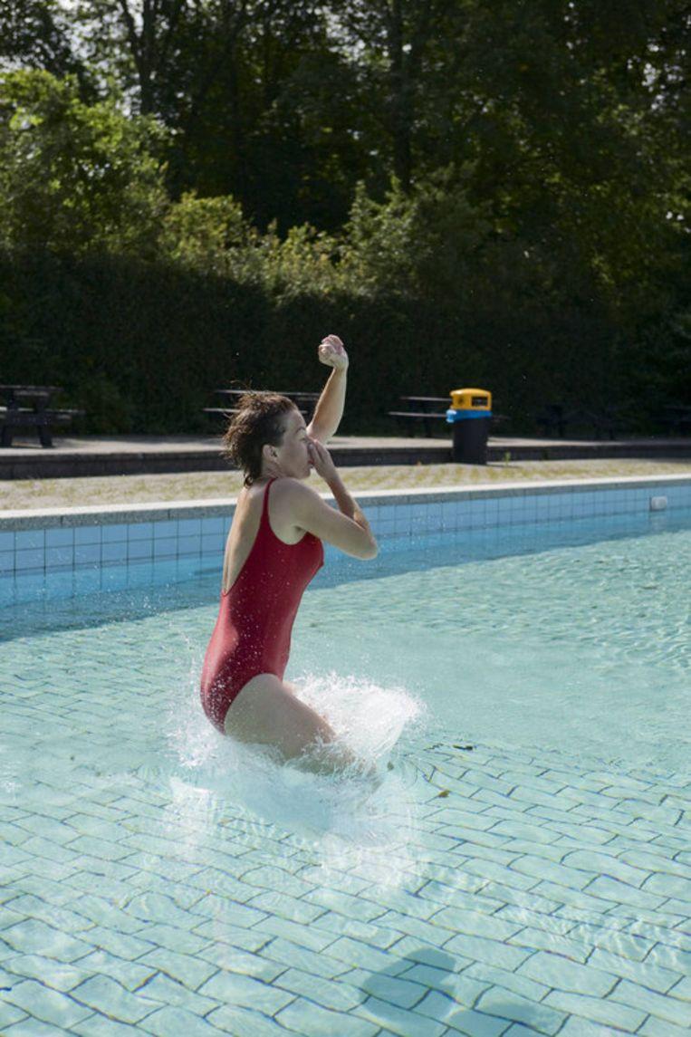 Twee buitenbaden van het De Mirandabad blijven op tot en met 13 september. Foto Jordi Huisman Beeld