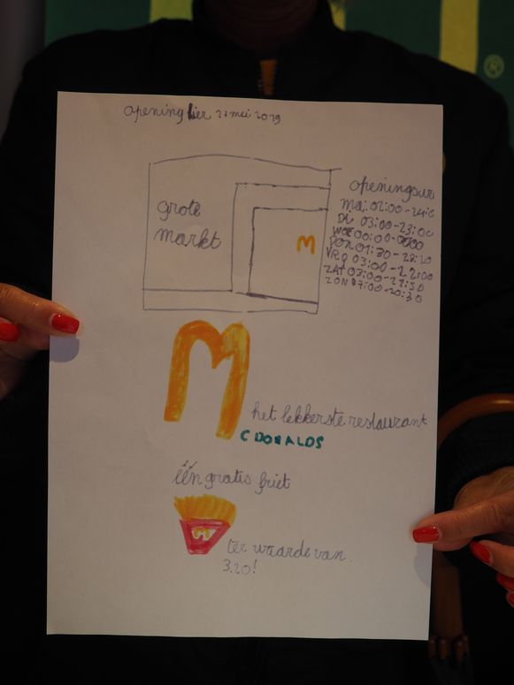 McDonald's verraste Dries Avonds uit Lier met een minirestaurant op de Grote Markt. De bewuste brief