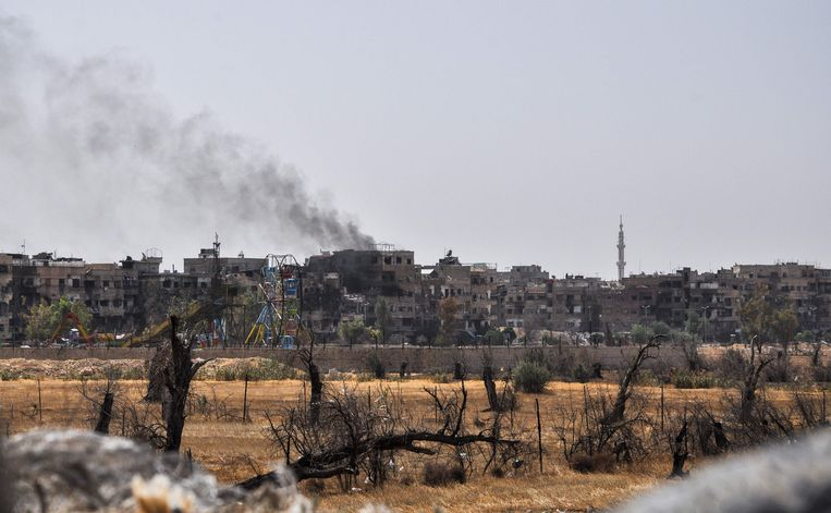 Het Syrische Douma. Beeld AFP