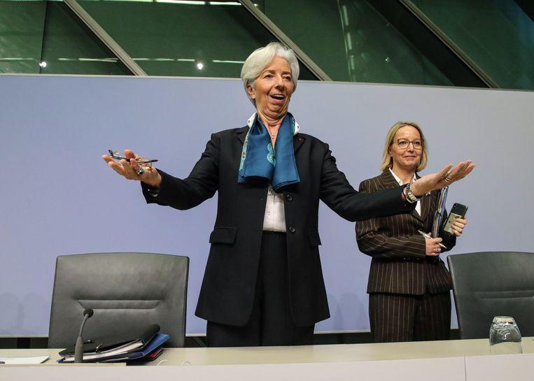 Christine Lagarde was donderdag tot in de puntjes voorbereid. Beeld EPA