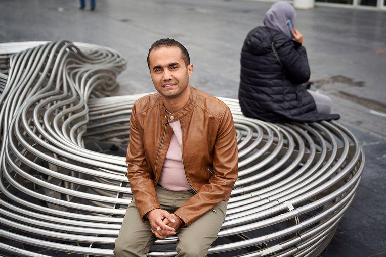 Jamal Badr in Den Haag: 'Het gaat vaak over Syrië, omdat die mensen nu hier zijn.' Beeld Phil Nijhuis