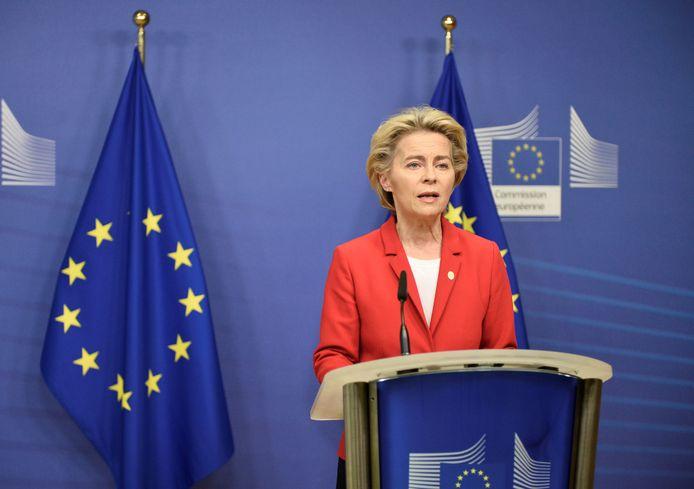 Voorzitter van de Europese Commissie Ursula von der Leyen.