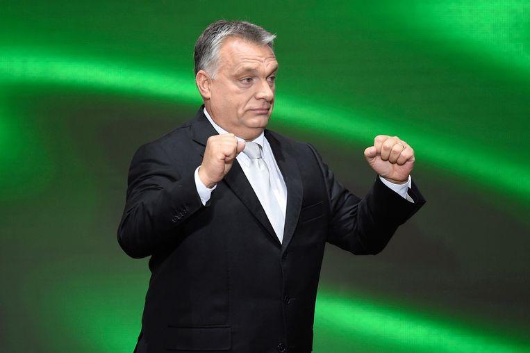De Hongaarse premier Viktor Orbán.  Foto Tamas Kovacs / EPA  Beeld null