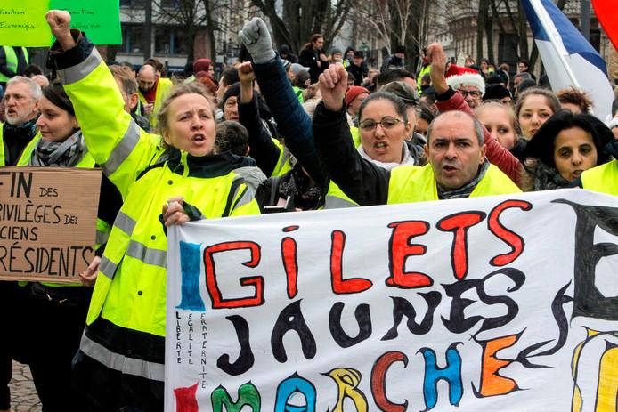 Demonstranten in Lille.