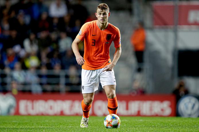 Matthijs de Ligt in actie voor Oranje.