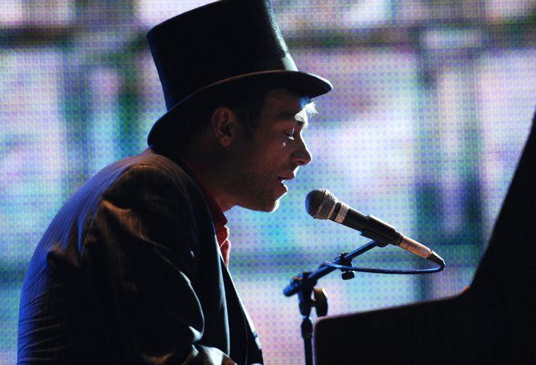 Damon Albarn tijdens een optreden voor het Amerikaanse festival Coachella.  Beeld WireImage