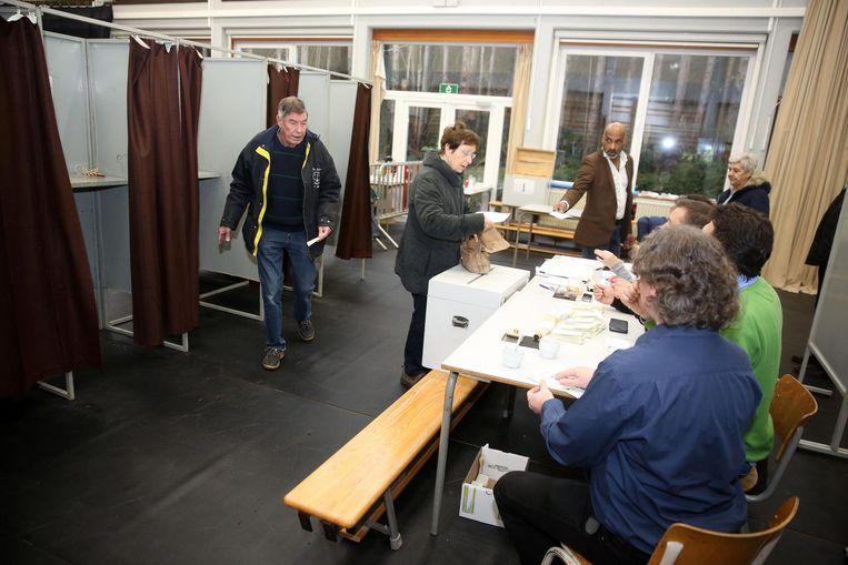 Bij de verkiezingen in Dilbeek wordt met een stemcomputer gestemd.